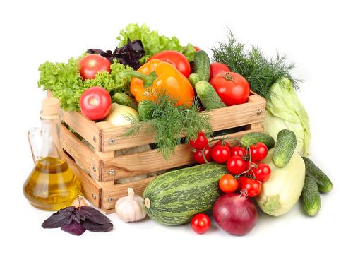Ящик с овощами